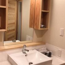 【本館4階和室】洗面も新しくなりました(2019年夏リニューアル)