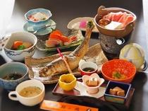 名物ニシン姿焼き魚 夕食一例