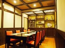 イステーブル席のお食事個室