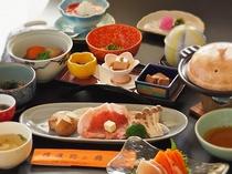 信州ポーク陶板焼き 夕食一例