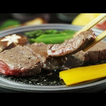 A4ランクの岩手牛うをステーキでお召し上がりください。