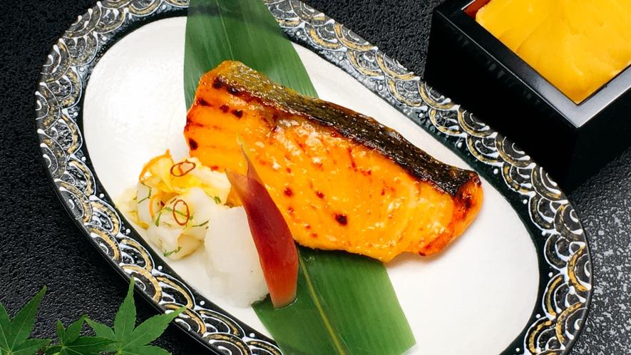 朝食日替わりメニュー:あさま仕込みの銀鮭西京焼
