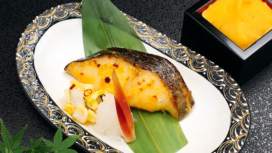 朝食日替わりメニュー:あさま仕込みの銀鱈西京焼