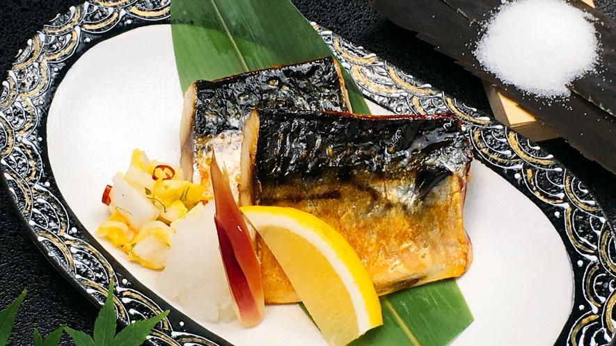 朝食日替わりメニュー:昆布塩使用 塩鯖焼