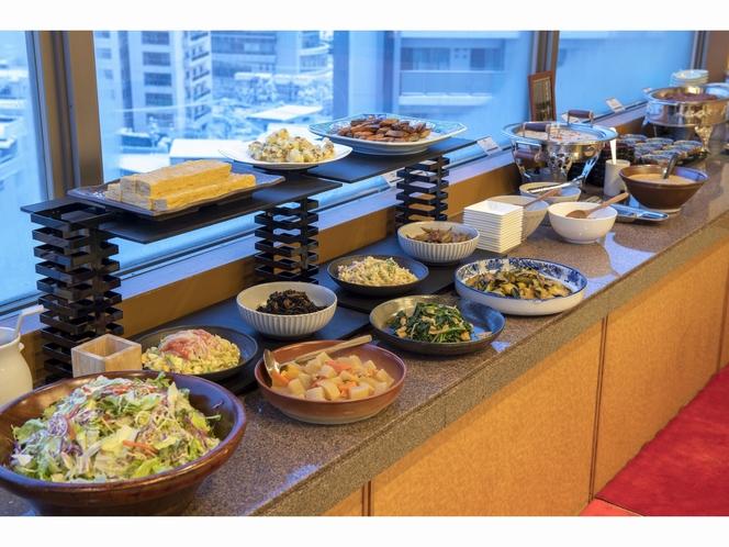 和食中心の朝食