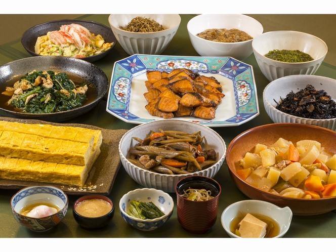 和食中心の朝食メニュー