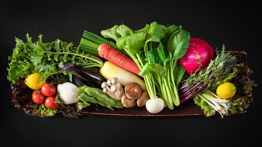 契約農家から仕入れた野菜