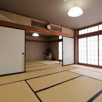 和室20畳のお部屋になります