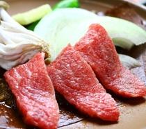 《夕食一例》飛騨牛陶板焼き(スタンダード)奥飛騨に来たら飛騨牛!