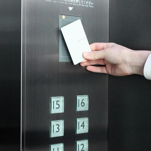 非接触フェリカ式カードキーでセキュリティも安心