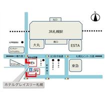 契約駐車場は2か所 P1「三井リパーク読売北海道ビル駐車場」P2「三井リパーク札幌駅南口」ございます