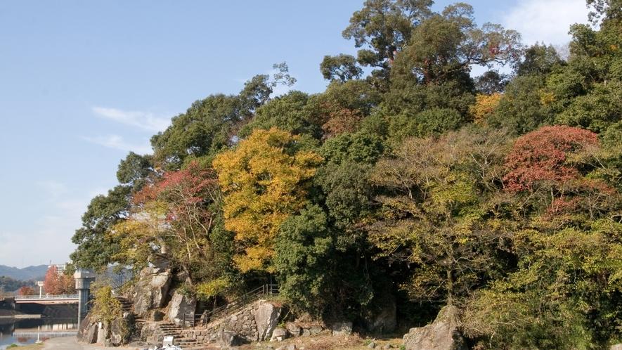 【亀山公園】当館から徒歩で約5分