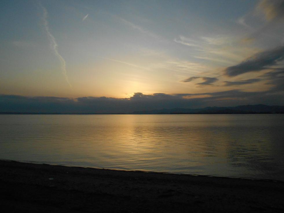 ある日の浜名湖の景色