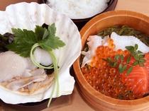 久坂総料理長おすすめ 「秋の味覚 丼ぶり」一例