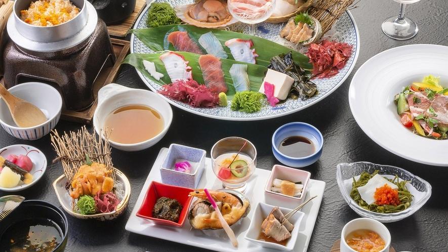 【プラン】三陸の海の幸などをもちいた和食膳/例