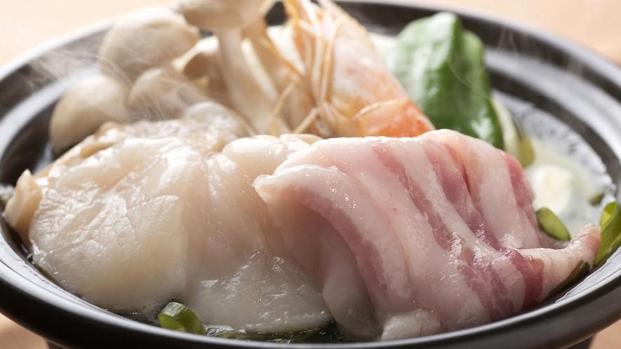 【夕食】好きな具材で作る陶板焼き/例