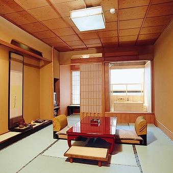 海を望む天然温泉の露天風呂付き和室10畳(限定)