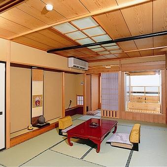 客室『忘れな草』 海を望む天然温泉の露天風呂付き角部屋13畳