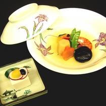 夕食メニュー 『野菜の煮物とごま豆腐』