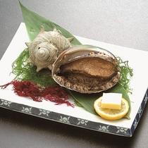 夕食メニュー例 『アワビの踊り焼き』