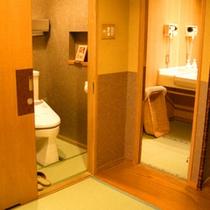 客室の畳の洗面所とお手洗い