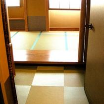 客室の入り口