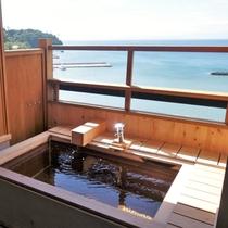 海を望む客室露天風呂一例 ①