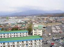 ホテル北側景観
