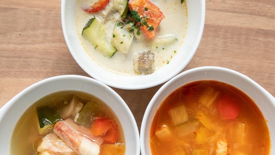 Breakfast|たっぷり野菜の選べるスープ