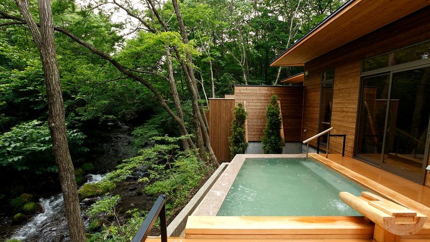 渓流露天風呂「川の湯 しかく」