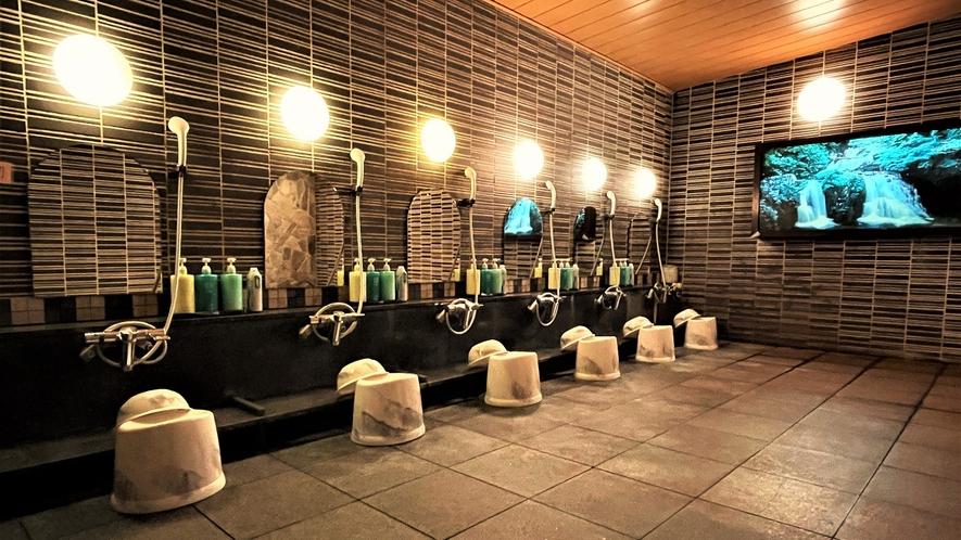 男性大浴場 洗い場