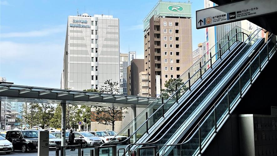 博多駅よりホテル方面☆