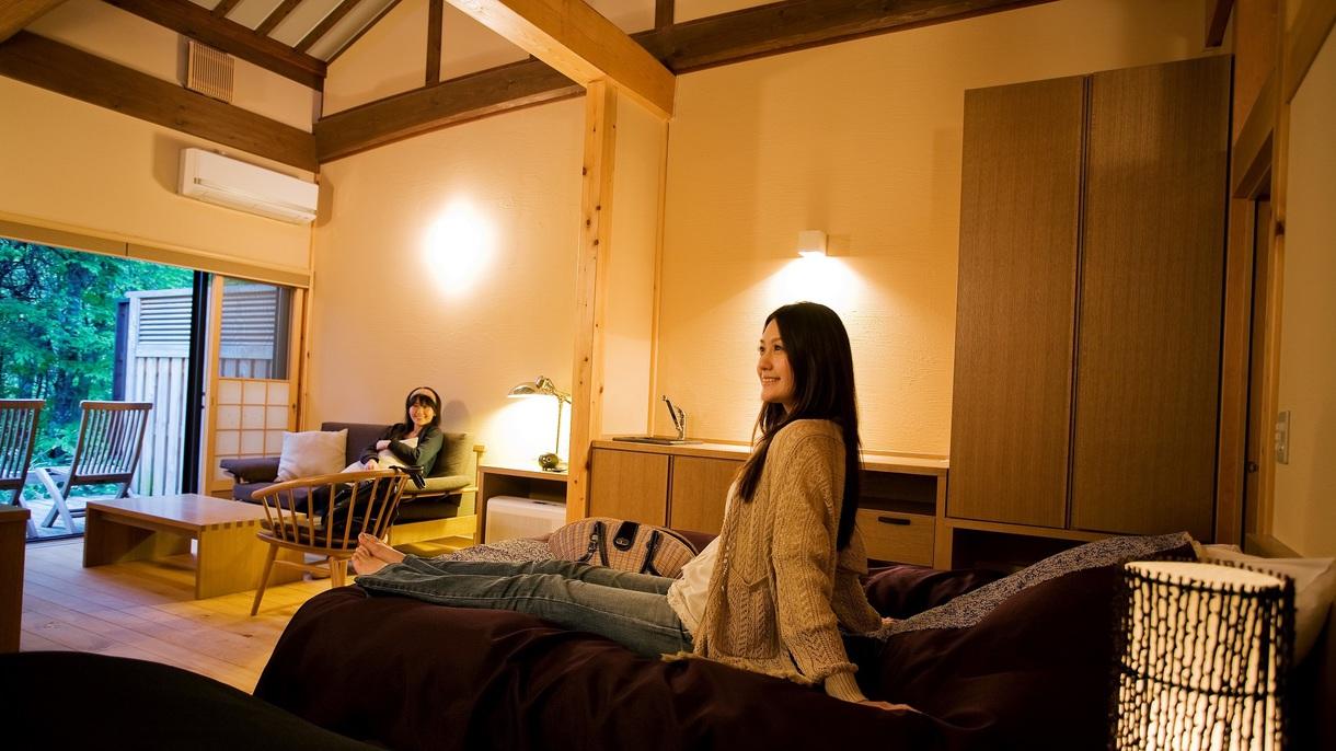 【露天風呂付客室:姫子松の抄】