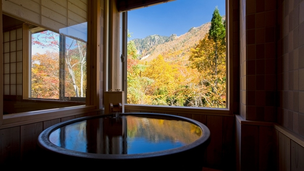 温泉【禁煙】洋室リビング+和室寝室+半露天風呂付(45平米)