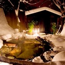 【貸切露天風呂】冬