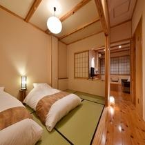 【客室】半露天風呂付き和洋室(一例)