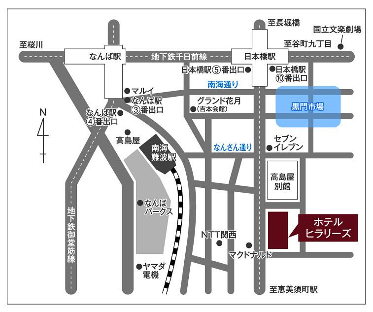 各最寄駅からの地図
