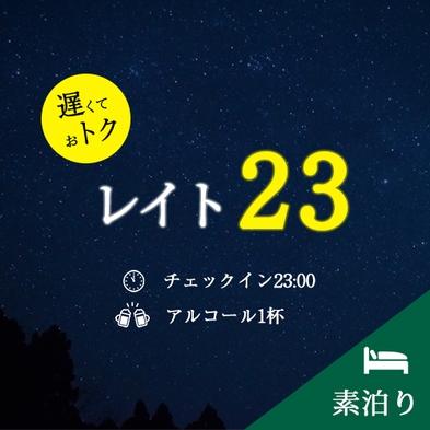 【遅トク!】レイト23プラン〜お疲れ様の1杯付き≪素泊まり≫【チェックイン23時〜】