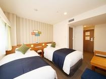 スーペリアツインルーム(一例)ご夫婦や友達同士のお泊りに最適です♪