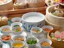 【本館1階セラリ迎賓館】中華ブッフェ一例 中華粥と点心のブッフェスタイル