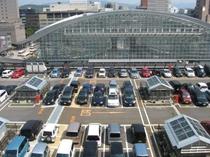 金沢駅屋上駐車場