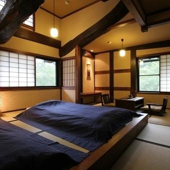 川のせせらぎの景観 和室 「木庵」