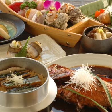 【楽天スーパーSALE】5%OFF【夕食付朝食無し】金目鯛の煮付けコース☆朝食なしの朝寝坊コース♪