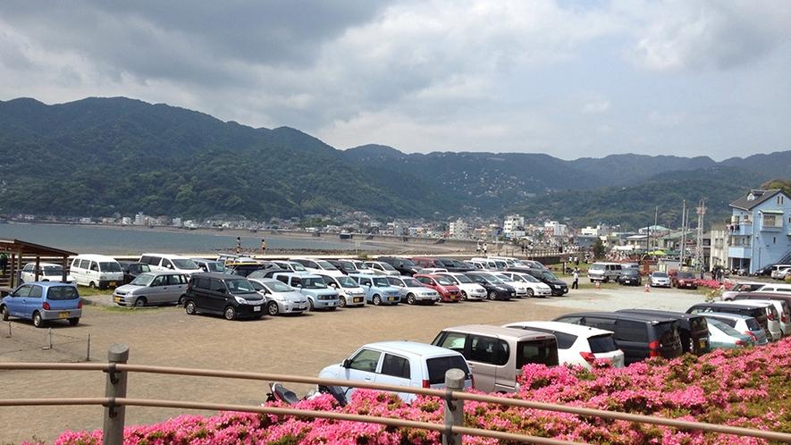 「有料駐車場1日1,000円」※7月下旬〜8月下旬。その他は無料