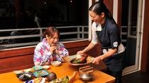 ご夕食風景。金目鯛の煮付コース(スタンダードコース)