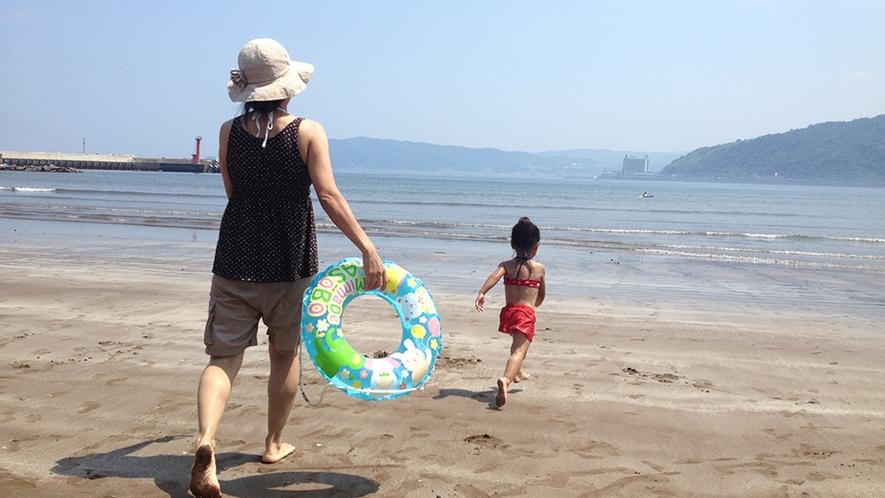 「お子様連れに人気の海水浴場」別名、海デビューの聖地。