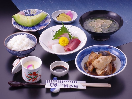【2食付】ホテルより徒歩3分 老舗「いけす博多屋」の選べる夕食プラン