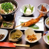 *お夕食一例/上州の自然豊かな場所で育まれた食材のお夕食です。