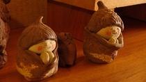 手作りの焼物人形