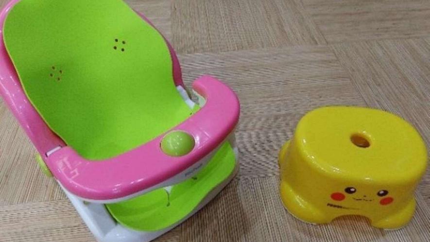 大浴場備品/ベビー用バスチェアーや子供用風呂椅子をご用意しております。